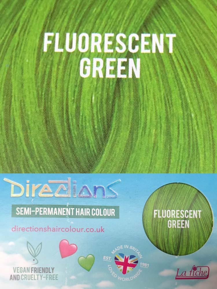 Directions | Semi Permanente Haarverf Fluorescent Green