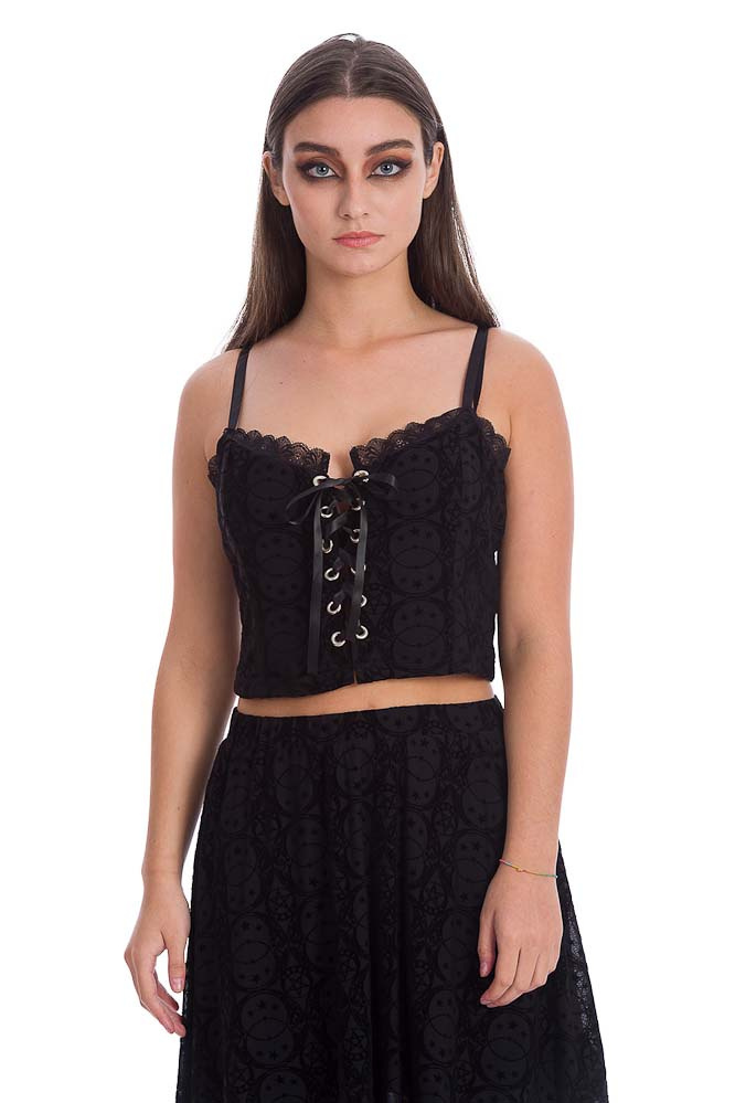 Banned   Gothic corset top Evie Tie