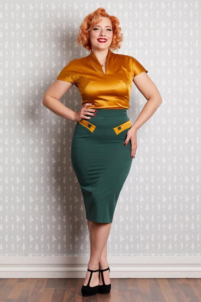 0 | Kokerrok Eszter-Gia emerald met zakjes