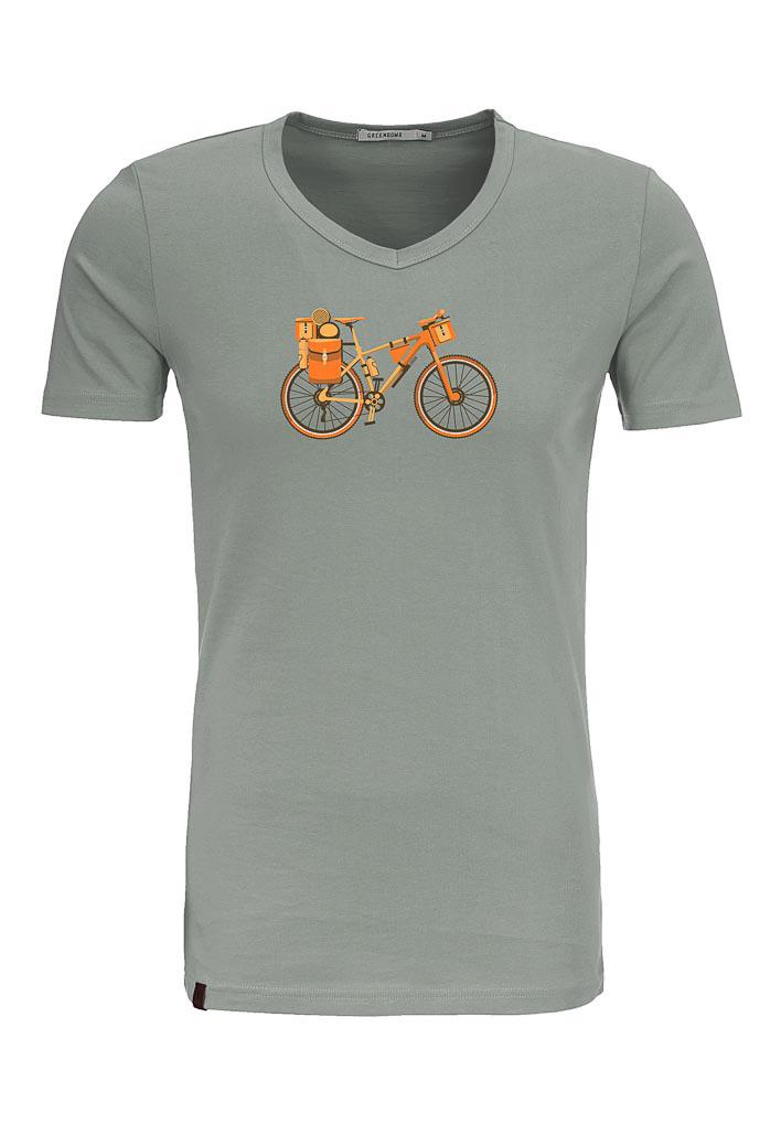 Green Bomb | T-shirt olijfgroen Bike Nomad bio katoen