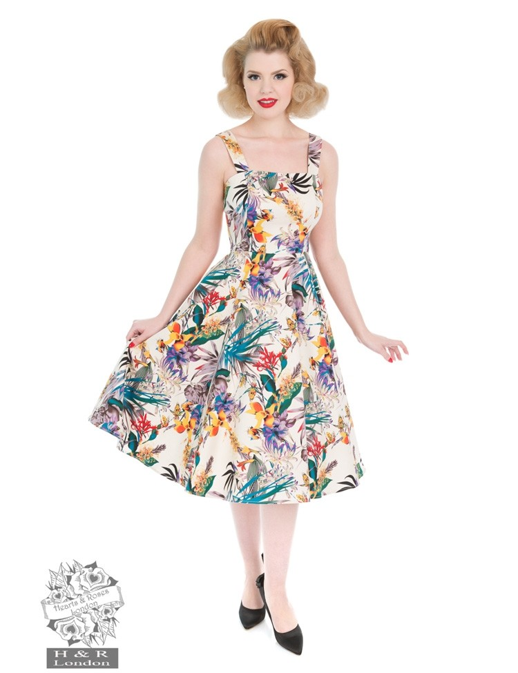 Jurk Pansies Floral Swing Dress