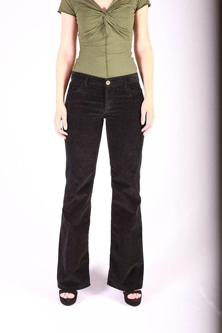 Ribcord broek met wijde pijp Newton Zwart