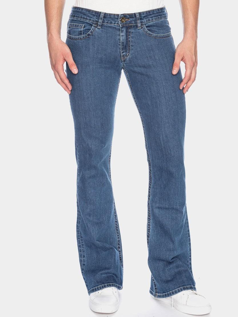 Ato Berlin-Jeans Fred Assama blauw used wassing, bio katoen