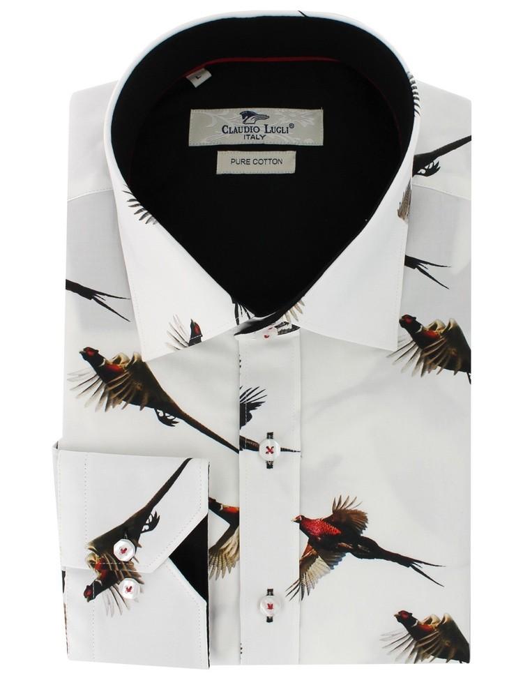 Overhemd Fazant print