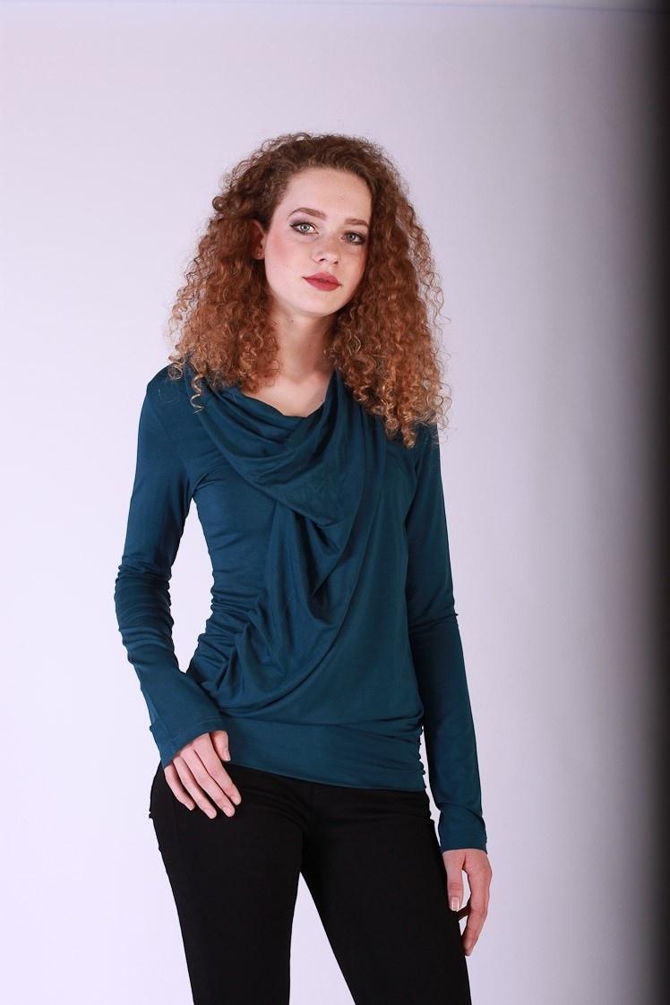 Shirt top lange mouw Mariola blauw