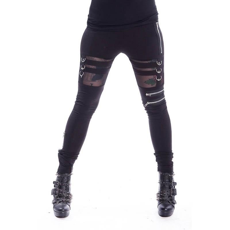 Legging Inka, met cut-out detail, zwart