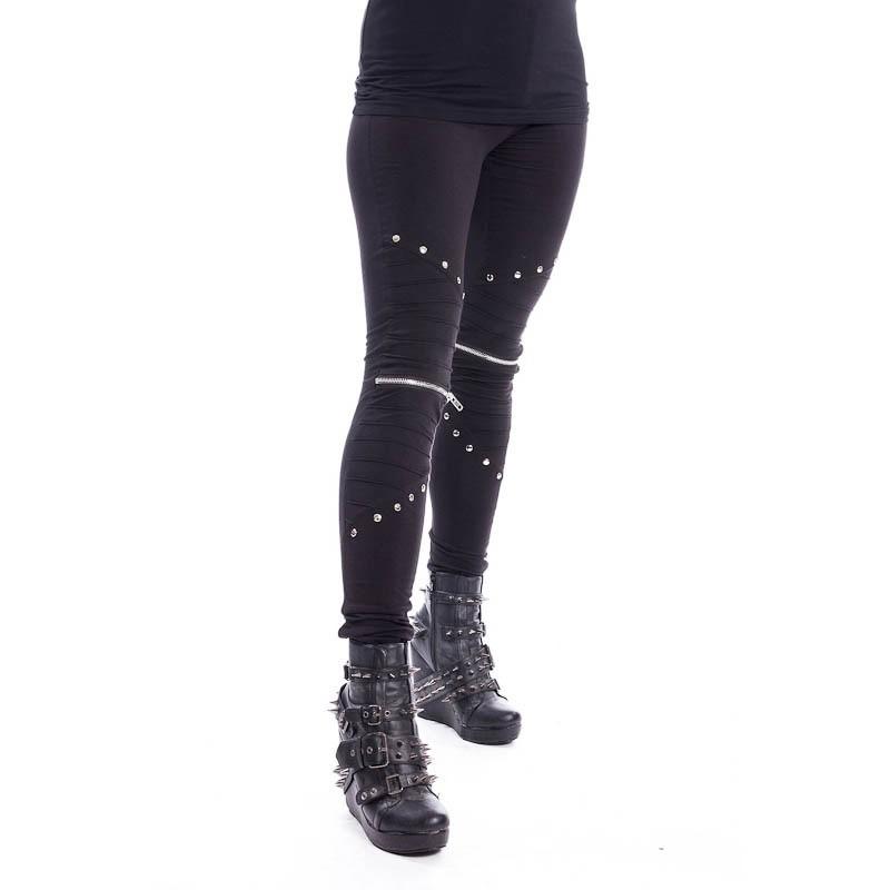 Legging Wind, met zilverkleurige details, zwart