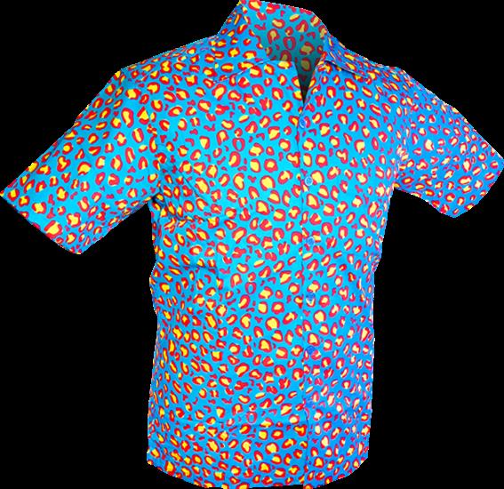 Chenaski | Overhemd korte mouw, Coloured leo