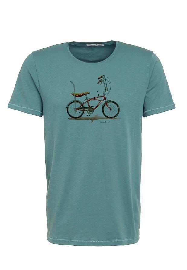 T-shirt Bike Banana, bio katoen dirty blue