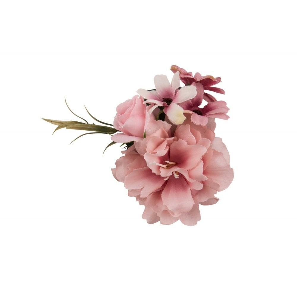 Haarclip/broche, met roze bloemen