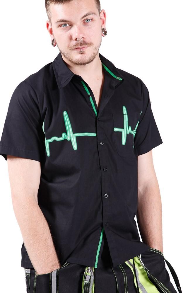 Overhemd met groene Heartbeat Line