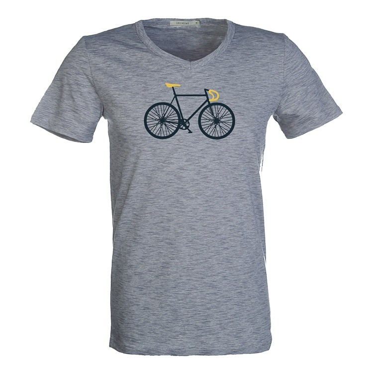 T-Shirt bike free bio katoen deep blue stripes