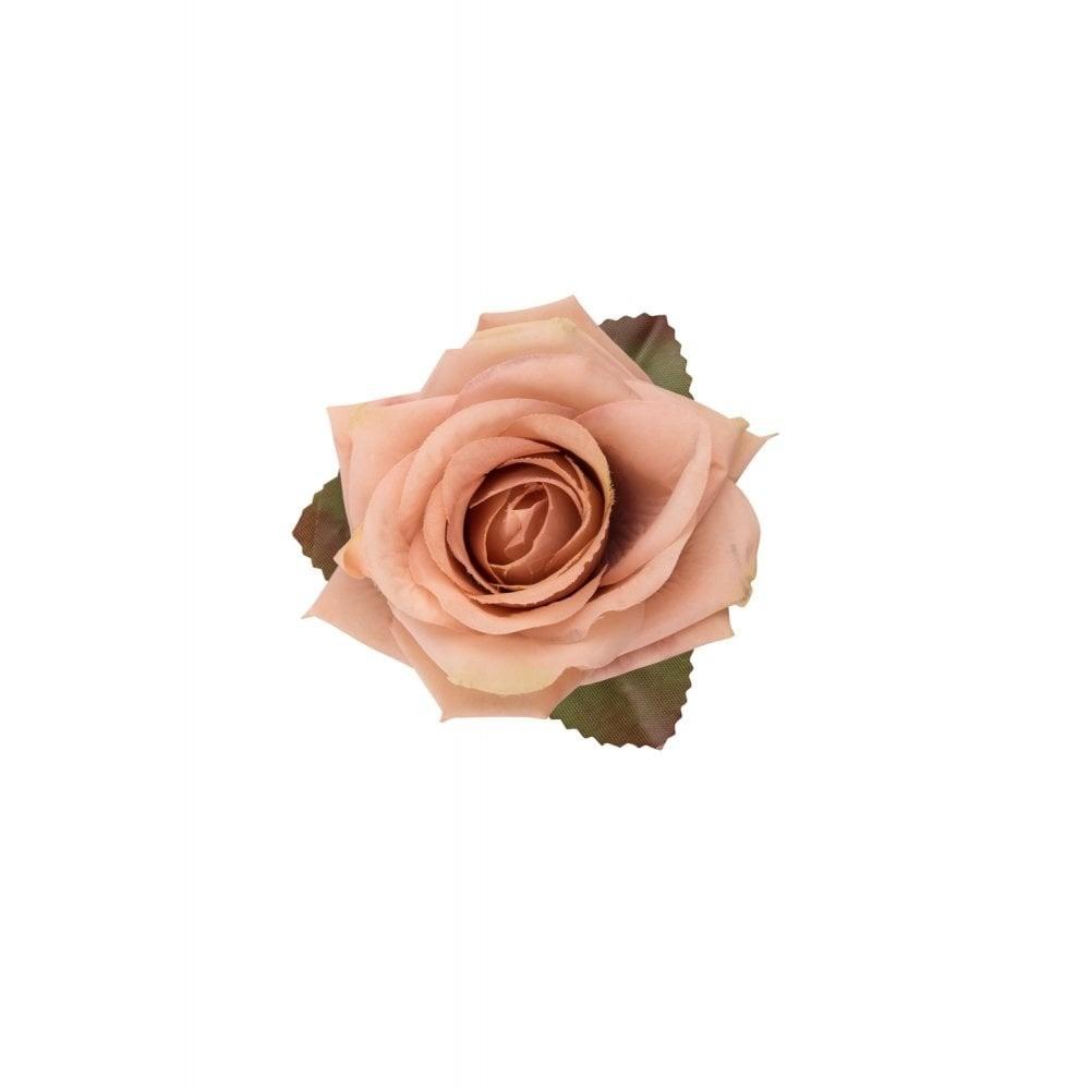 Haarclip, roze winter roos