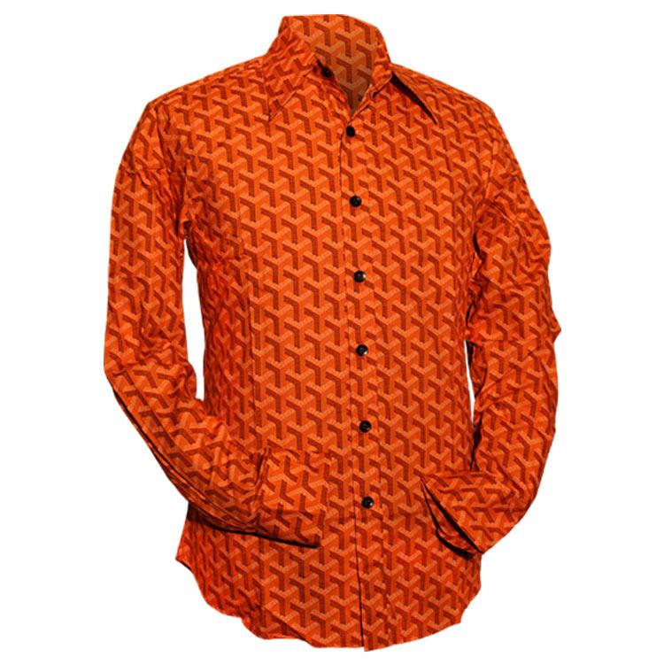 Chenaski   Oranje seventies overhemd Bridges