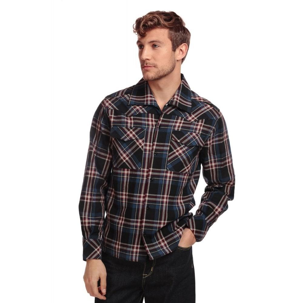 Overhemd Tiago, lange mouw, schotse ruit, tartan blauw