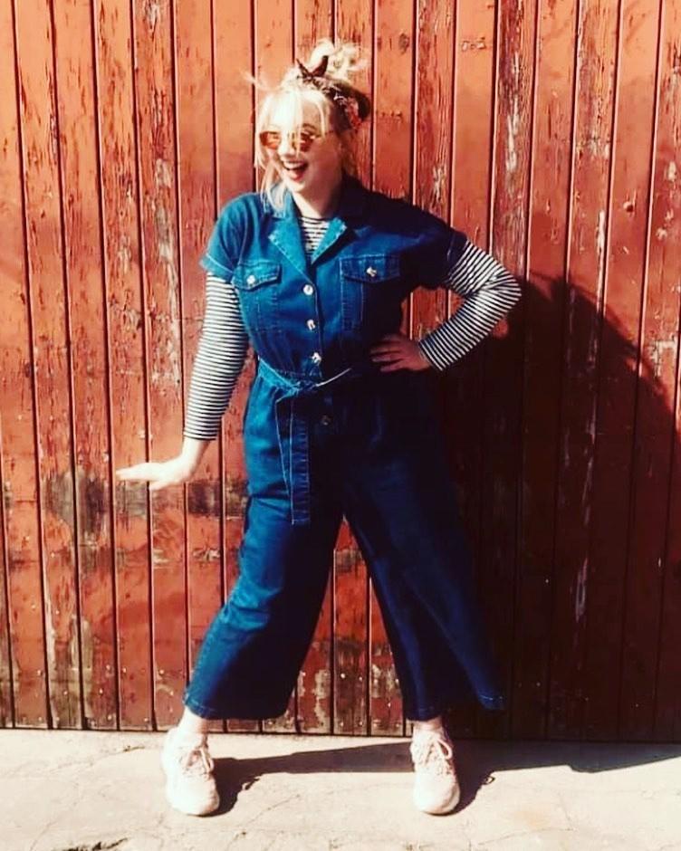 Jumpsuit Poppy, denim utility, blauw