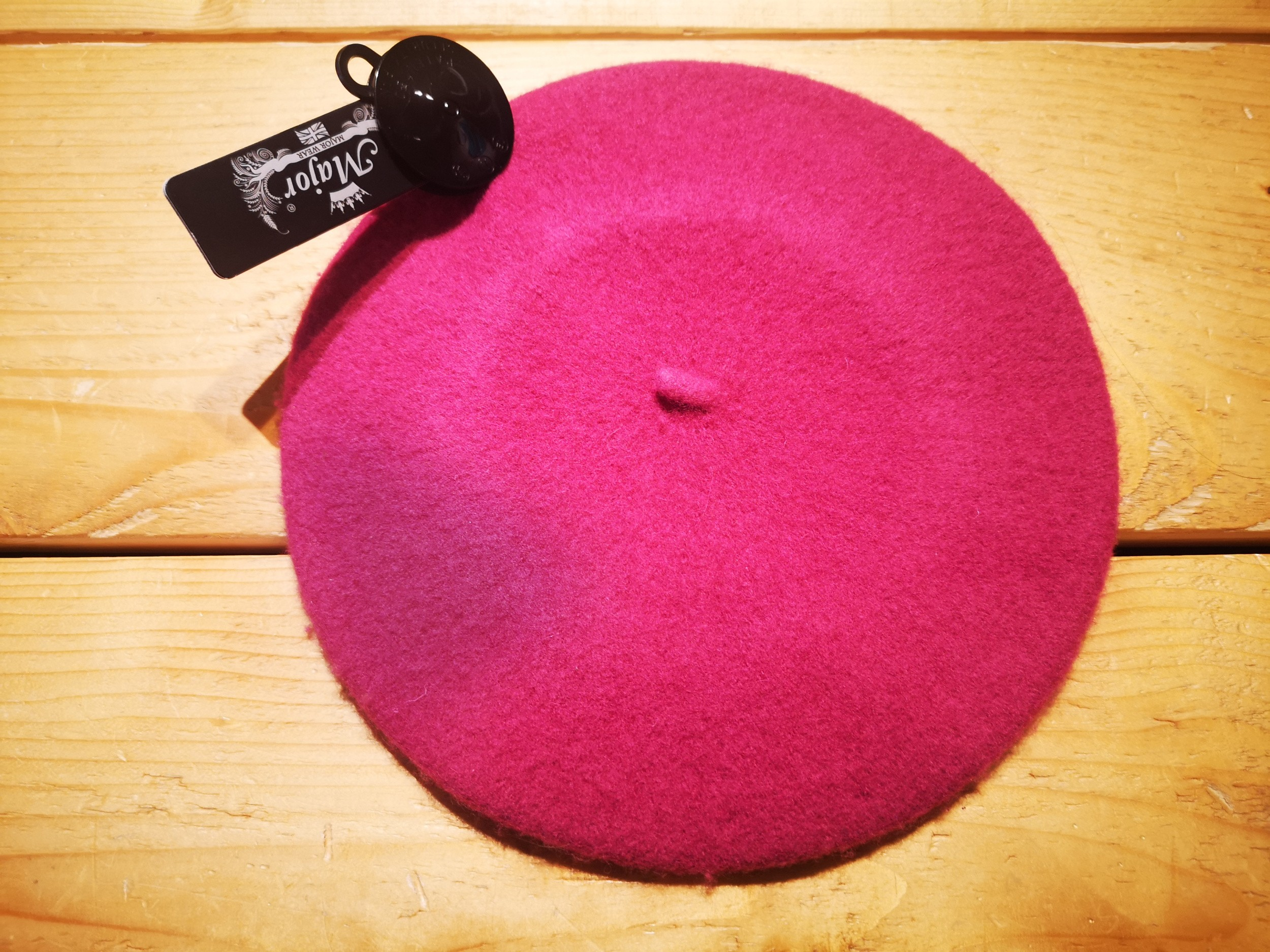 Klassieke baret van wol, roze