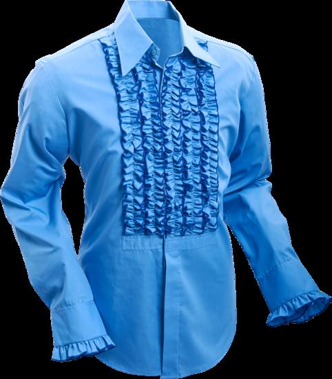 Overhemd ruche mid-blue dark blue