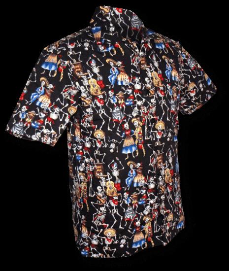 Zwart Overhemd Kopen.Overhemd Korte Mouw Dance Of The Dead Zwart Online Kopen
