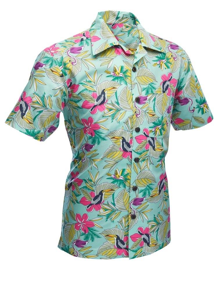 Overhemd korte mouw Colibri mint