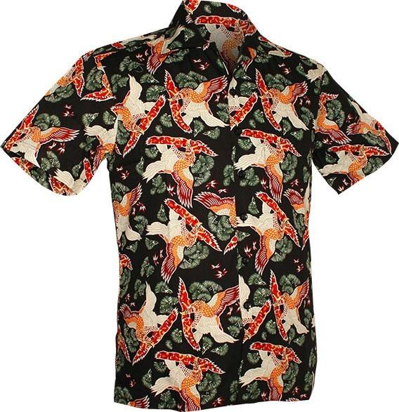 Chenaski | Overhemd korte mouw, Amber eagle, black