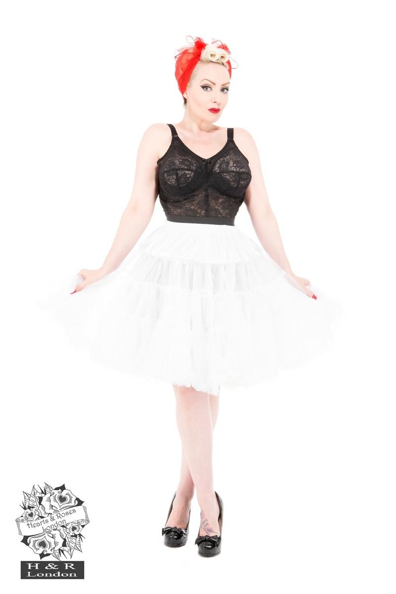 Petticoat wit met katoenen voering