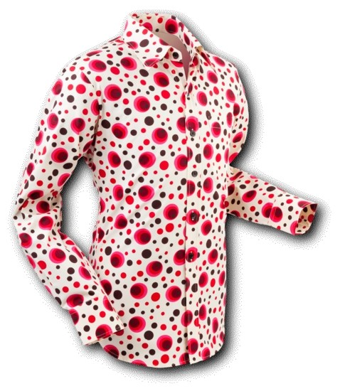 Overhemd Seventies Dots and Spots Red