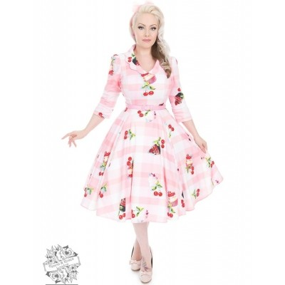 Jurk Cherry en Cupcakes Swing dress