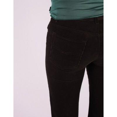 Foto van Ribcord broek met wijde pijp Newton Olive