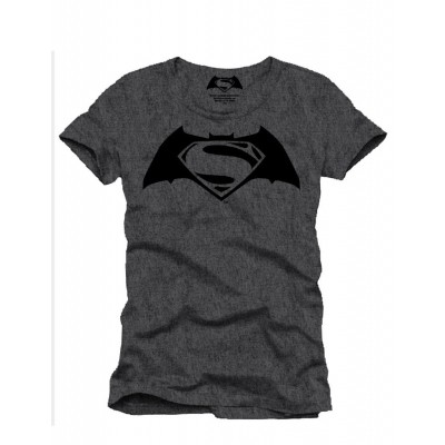 Foto van T-shirt Flockprint Batman Superman Logo