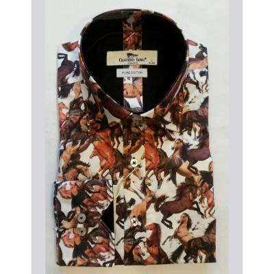 Foto van Overhemd Paarden print