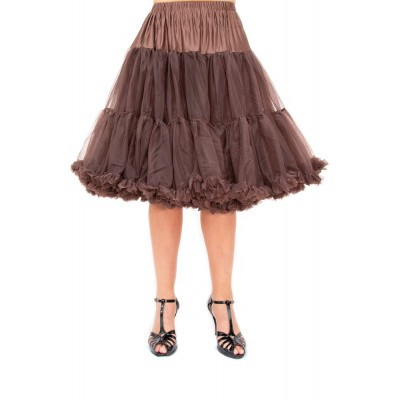 Foto van Petticoat Starlite over de knie met extra volume, chocolate brown