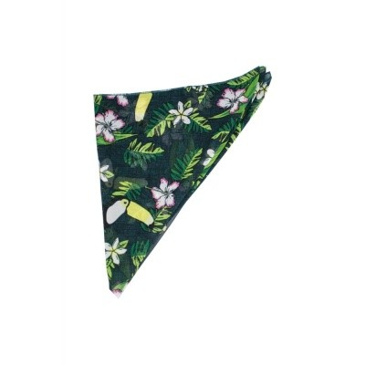 Foto van Bandana tropical bird groen