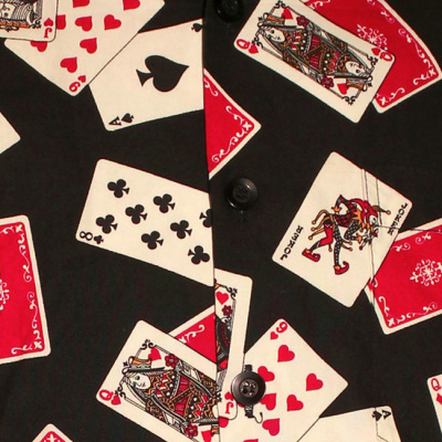 Foto van Chenaski | Overhemd korte mouw, Cards zwart