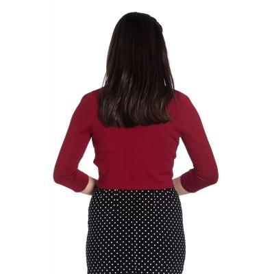 Foto van Bolero Maggie, rood met drie-kwart mouw