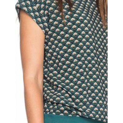 Foto van Ato Berlin, shirt Leo met grafisch patroon groen blauw