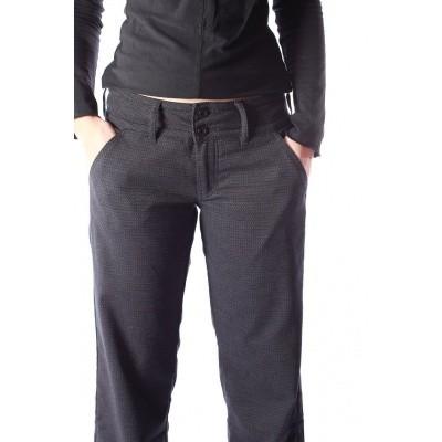 Foto van Pantalon Lilia, zwart grijs jaquard patroon, Ato-Berlin