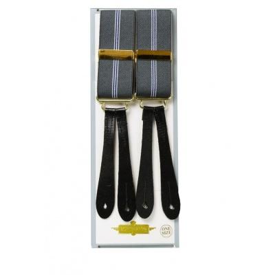 Foto van Knoopbretels met lussen grijs met streep