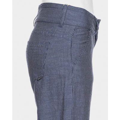 Foto van ATO Berlin-Pantalon Lilia blauw met witte krijtstreep