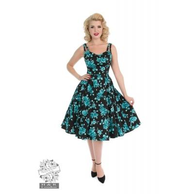Foto van Jurk black rosaceae swing dress