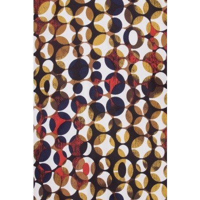 Foto van Jurk Audrey's infinity, retro polkadot, bruin en oranje