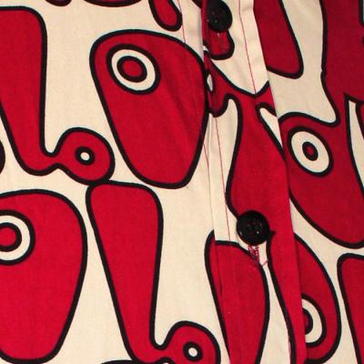 Foto van Chenaski | Creme rood seventies overhemd Moloko