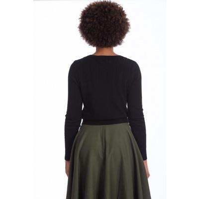 Foto van Banned, cardigan Gosh Girl, zwart