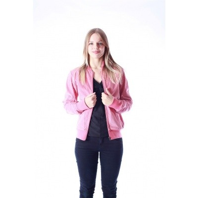 Foto van Jas Bebe roze ribcord