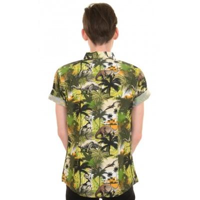 Foto van Overhemd korte mouw Jungle dino