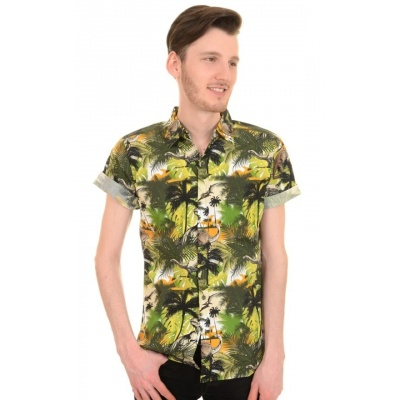 Overhemd korte mouw Jungle dino