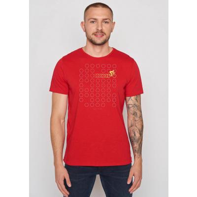 Foto van Green Bomb | T-shirt Bike Rings, tango red bio katoen