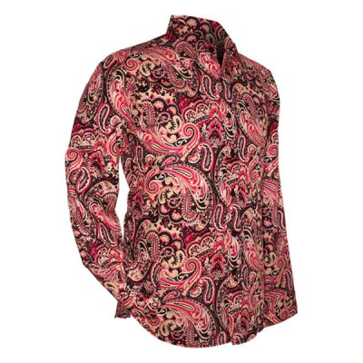 Chenaski - overhemd seventies, Paisley black