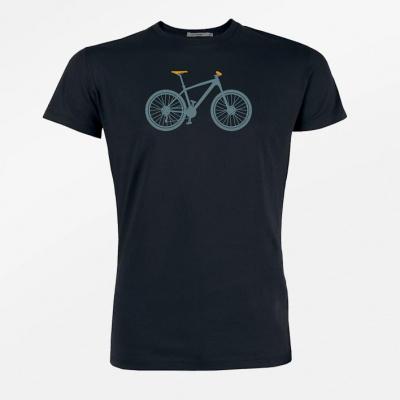 Foto van Green Bomb | T-shirt zwart Mountain Bike bio katoen