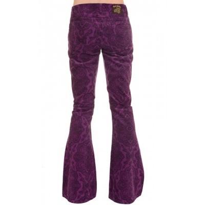 Foto van Ribcord broek, Jimi Hendrix paarse Paisley